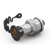 "WEH® Receptacle TN1 H₂ 70 MPa for refuelling of cars (EC79), with external thread UNF 9/16""-18, prepared for data interface"