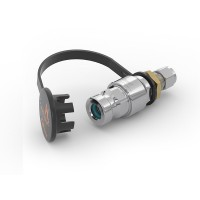 "WEH® Receptacle TN1 H₂ for refuelling of cars, with tube Ø 3/8"", filter 50 micron, 250 bar"