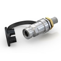 "WEH® Receptacle TN1 H₂ 70 MPa for refuelling of cars (EC79), with external thread UNF 9/16""-18"