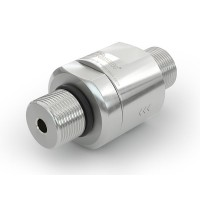 """WEH® Check Valve TVR1 H₂ 70 MPa for installation in cars (EC79) with external thread on both sides UNF 9/16""""-18 (Face Seal at the inlet)"""