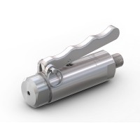 """WEH® Connector TW141 for straight tubes, tube OD 6.35 mm (1/4""""), lever actuation, vacuum up to max. 100 bar"""